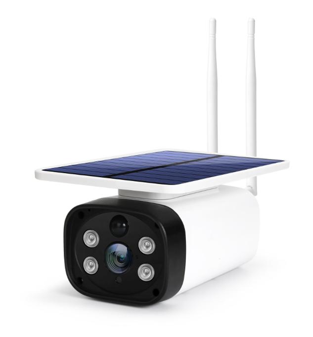 cámara con placa solar